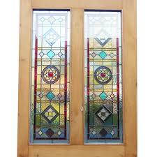 original 4 panel stained glass door