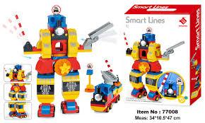 Đồ chơi Smoneo Duplo Lego - Bộ xếp hình lắp ghép Robot - 92 mảnh ghép -  77008