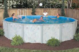 Above ground swimming pool Semi Calibay Coastal Round Above Ground Pool Royal Swimming Pools 15 Round 52