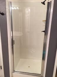 semi frameless shower doors. Semi- Frameless Shower Door With Knock On Handle In Chrome Finish Semi Doors