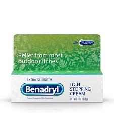 Benadryl Extra Strength Itch Relief Cream, Topical Analgesic, 1 oz ...