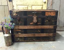 Black Steamer Trunk Coffee Table Steamer Trunk Coffee Table With Antique Look Design Chocoaddicts