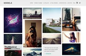Tumblr Photography Themes 45 Free Grid Based Tumblr Themes Inspirationfeed