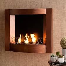 copper wall mounted gel fuel fireplace
