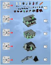 Lego House Plans Lego Haunted House Instructions 10228 Monster Fighters
