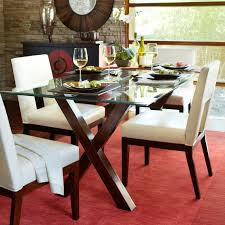 dining room ideas round glass top dining table set 4 chairs round glass dining table