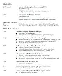 Medical Student Resume Template Resume Template No Work Experience