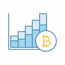 Bitcoin Blue Filled Color By Bsd Studio