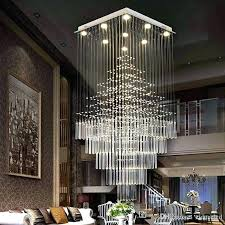 oblong chandelier crystal chandelier lamps stairs hanging pendant lamps fixtures for villa hotel mall with rectangular