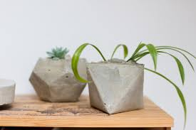geometric designs for concrete planters