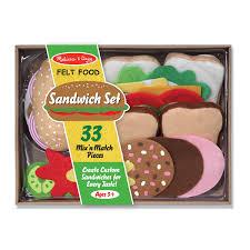 Melissa And Doug Retro Kitchen Melissa Doug 33 Piece Felt Food Sandwich Set Reviews Wayfair