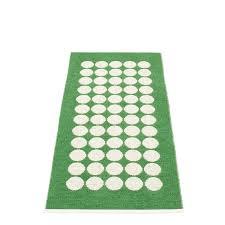 pappelina fia grass green runner rug