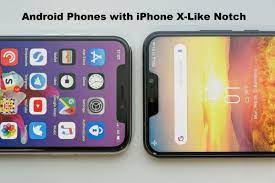 Android Mobiles with Iphone X like Notch Screen. | Iphone, Iphone x,  Settings app