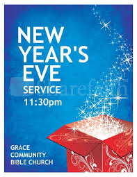 New Years Eve Church Flyer Template | Flyer Templates