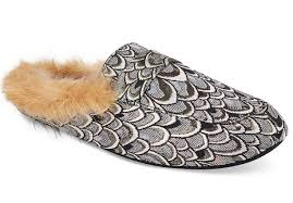 Inc Shoes Size Chart Inc International Concepts Womens Silver Faux Fur Loafer Slippers Shoes