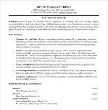 Olive Garden Server Job Description Resume