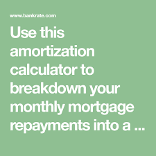 Simple Amortization Calculator Use This Amortization Calculator To Breakdown Your Monthly