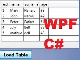 c wpf tutorial 17 show database