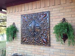 decorative exterior metal wall art