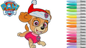 Extraordinary Inspiration Paw Patrol Christmas Coloring Pages Book