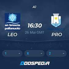 Brescia - Pro Recco » Live Stream & Ticker + Quoten, Statistiken, News
