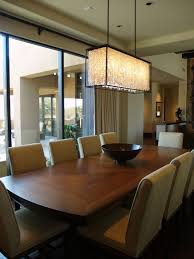 dining room crystal lighting. Outstanding Dining Room Crystal Chandelier At Square Shaped Design With Elegant Wooden Lighting