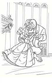 The Beast And Belle Dance Coloring