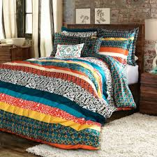 bedroom boho bedding sets unique special edition by lush decor boho stripe bedding collection