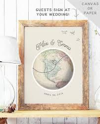 Globe Guest Book Alternative Travel Theme By