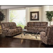 barcalounger vincent ii power sofa in ford chestnut microfiber leather look fabric