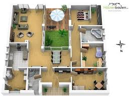images about Houses on Pinterest   Floor Plans  House plans    Bungalow Grundrisse   bring nature into the house   atrium house floor plan