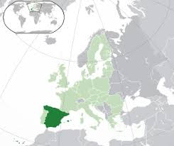 Испания Википедия Расположение Испании тёмно зеленый в Европе светло зелёный и тёмно серый в Европейском союзе светло зелёный
