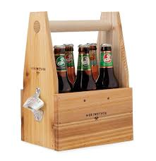 show off your six pack in a rustic cedar beer tote