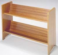 ... Affordable Router Workshop Angled Bookcase With Brown Wooden Color Two  Shelves Recomended For Your Small Space ...