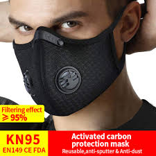 KN95 PM2.5 Dust <b>Mask Activated</b> Carbon Filter Anti-Pollution ...