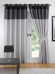Black Patterned Curtains Interesting Design Inspiration
