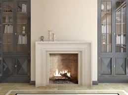 cast stone surround at center bookcases built in door style and color