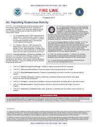U Fouo Dhs Fbi Fire Line Bulletin Reporting Suspicious Activity