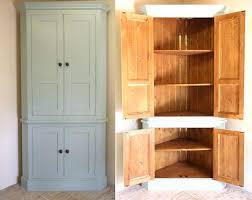 floor standing corner cupboard freestanding pantry for extra storage in the hallway