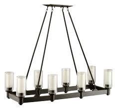 black iron rectangular chandelier french