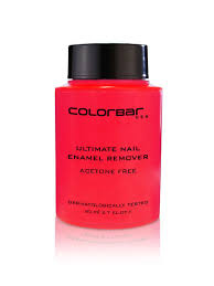 colorbar acetone free ultimate nail enamel remover 80 ml