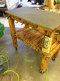 Recycled materials include: pool table slate, old decking material, vintage  western items all
