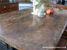 Sealing Painted Countertops Kammys Korner Painted Faux Granite Counter Tops With Diy Chalk