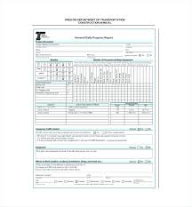 Daily Report Template Word Format Work Progress Excel Bindext Co