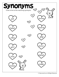 Reading Worksheets: Antonyms and Synonyms synonym-worksheet ...