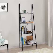 image ladder bookshelf design simple furniture. Lifewit 4 Shelf Ladder Bookcase Multilayer Simple Bookshelf Storage, Tiers Storage Rack Carbon Image Design Furniture