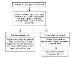 Защита прав предпринимателей и потребителей Предпринимательство Структура системы защиты прав потребителей Украины