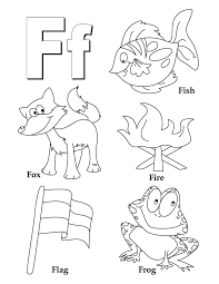 Small Picture F for fish fox fire flag frog Letter F Pinterest Worksheets
