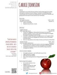 creative teacher resume reflection template education resume templates