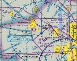 St Louis Sectional Chart Abandoned Little Known Airfields Indiana Western